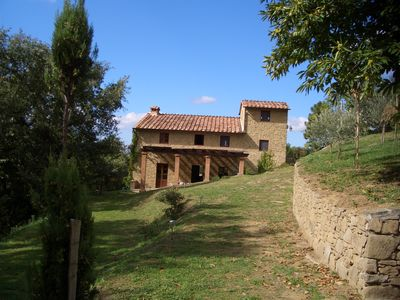 Gaiole in Chianti villa rental - Long view towards Main House
