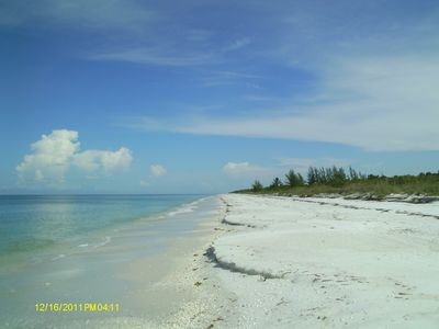 Beautiful secluded beach on the Gulf of Mexico.