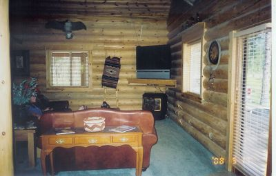 Polson house rental - Living room, Fireplace, Satellite TV