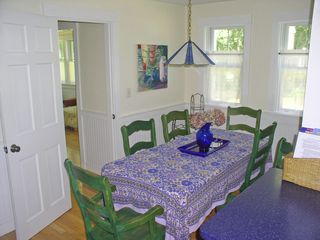 Oak Bluffs house photo - one of 2 dining tables-this one abuts the kitchen. Note in-law area door