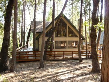 Pollock Pines house rental - View of the Jade Retreat from the forest.