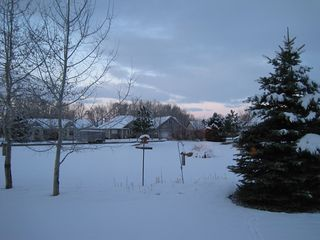 Bozeman house photo - Holiday perfect! Winter sunset behind house on the green-cross country ski-out!