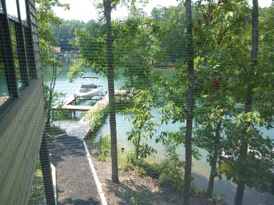 Views of the dock and boat lift