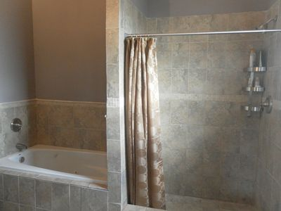 Jacuzzi Tab and shower in Master bathroom...