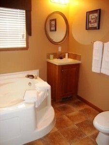Master Bathroom with Whirlpool and Walk-in Shower