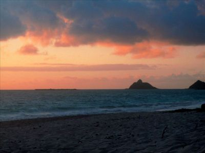Sunrise on your Kailua Beach....The Mokolua Islands in the background!