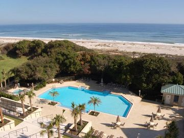 Amelia Island villa rental - View from Living Room and Main Balcony