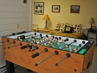 Blowing Rock cabin photo - Rec room foosball & Queen futon sleeping + full bath