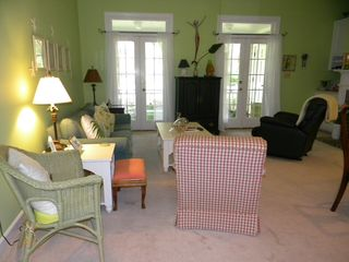 Murrells Inlet cottage photo - Open den with french door leading to the back porch.