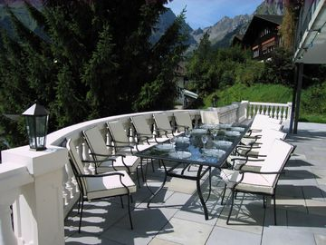 Engelberg villa rental - Summer on the terrace