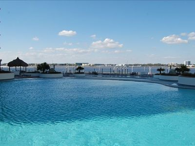 Pool and View!  Lazy River is next to the pool! Caribe is your family resort!