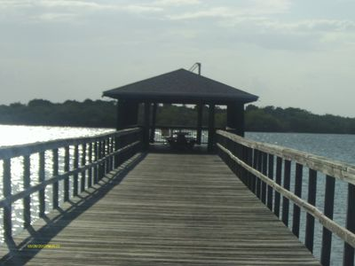 Miles of boardwalk across the marsh and along water. Dock for fishing.
