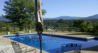 Charlottesville house photo - Private pool has panoramic view of mountains