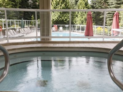 Large year-round hot tub was completely refurbished in 2012