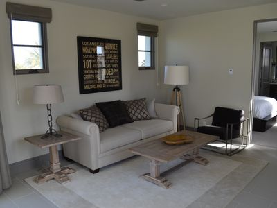 Upper Casita Living Room with queen pull out sofa and fireplace