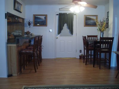 Dining area and door to screen porch