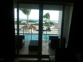Providenciales - Provo studio photo - .view of balcony from inside room
