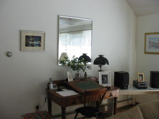 Eastham house photo - Family Room Antique Desk and Sony Sound System