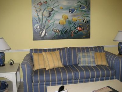 Fort Myers condo rental - Living Room-Hide A Bed