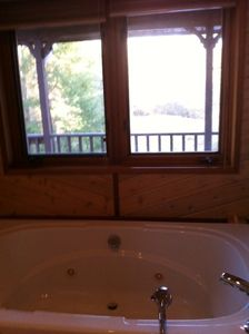 Master bath double jacuzzi tub