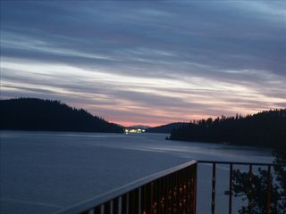 Coeur d 'Alene house photo - View distant Lights of Coeur d'Alene from veranda