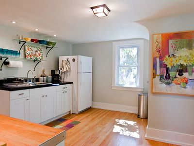 Woodstock property rental - Spacious + fully-equipped kitchen for preparing snacks + meals