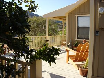 Bisbee house rental - Gorgeous views of Old Bisbee enjoyed from your very own wrap around deck!