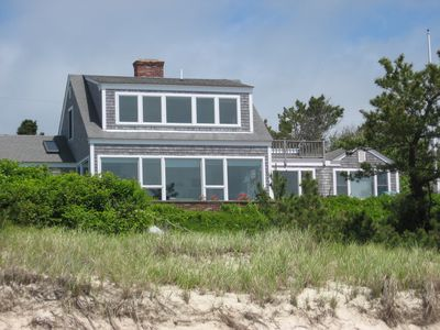 Welcome to 19 Shore Rd! This is the view from the beach.
