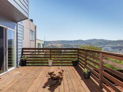 1 bedroom suit with living room connected to a beautiful back yard with view