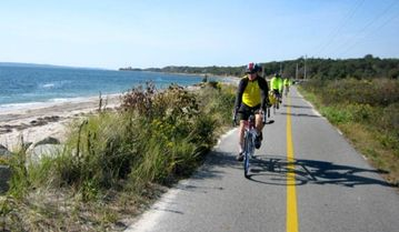 Take a ride along the many scenic bike paths