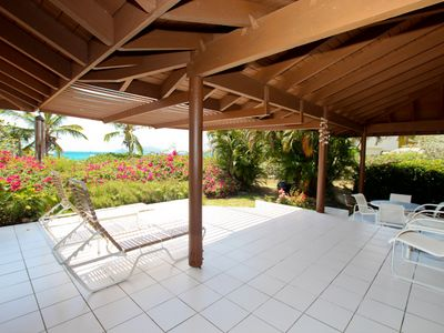 Huge beachfront patio!