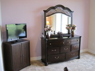 "Ruskin townhome photo - Master bedroom dresser and 32"" flat TV"