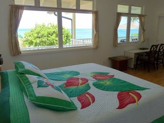 Waimanalo house photo - Upstairs Master Bedroom with an Ocean View