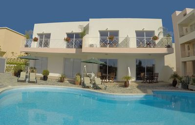 Apartments With TV, WiFi, A/C, Terrace And Shared Pool In Kato Paphos - 1 Bedroom Apartment (Sleeps 2-4)  Ground/1st floor