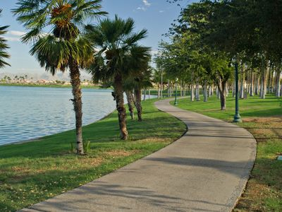 Enjoy the walking trails at South Lake