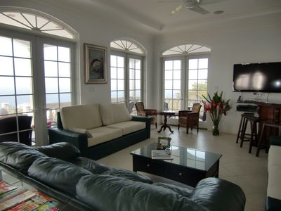 Great Room with Atlantic Ocean and Caribbean Sea views