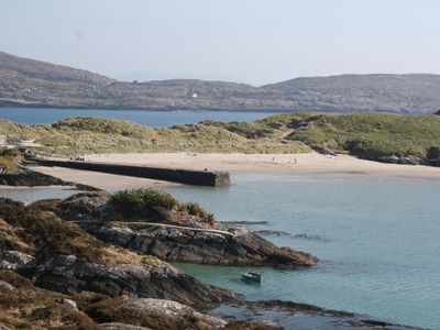 The pier at Derrynane, 10 mins walk from Iskeroon