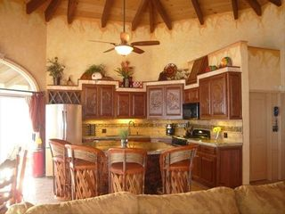 Puerto Penasco house photo - Kitchen with copper sink hand carved cabinets, Just bring the chef!