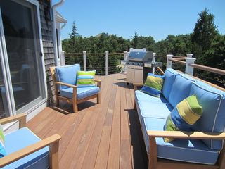 Katama house photo - 2nd Floor Mahogany Deck with Southern Exposure and Scenic Views