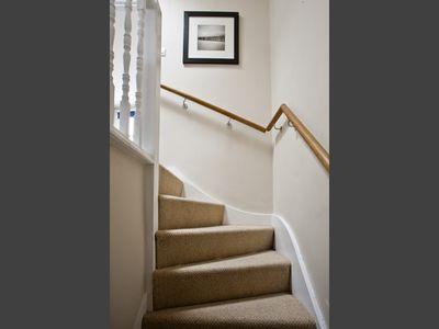 Private stairways onto the apartment