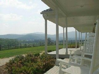 Stanardsville farmhouse rental - The view from High Fields Farm front porch!