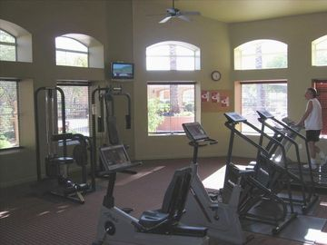 Clean, Air Conditioned Workout Room.