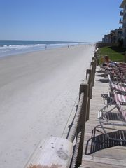 New Smyrna Beach condo photo - Sun deck right at the edge of the wide beaches New Smyrna is so famous for