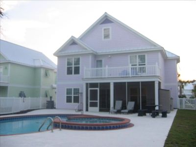 "Rear View of ""Got Sun"" Island Style Home in Bermuda Bay"