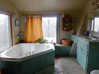 Chilmark farmhouse photo - Master Bathroom with 2 person Jacuzzi