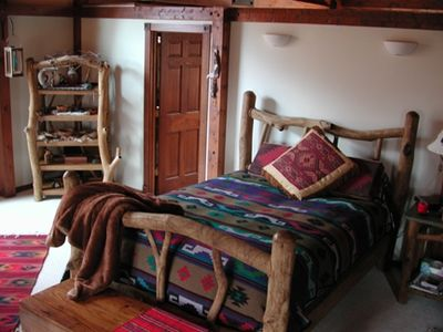 Etlan / Old Rag Mountain house rental - Large master bedroom has huge platium window