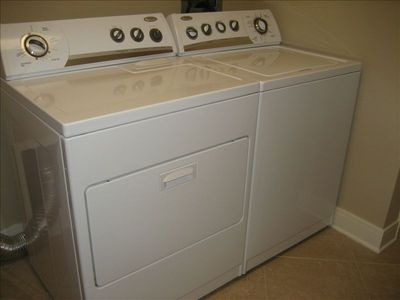 Washer and dryer in the unit.