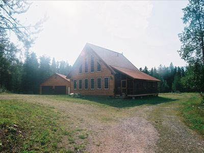 Cabin at the base of Apgar lookout in the middle of the 5 acres