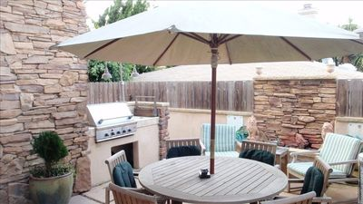 Main Level, Outdoor Dining Patio. BBQ & Fire Pit