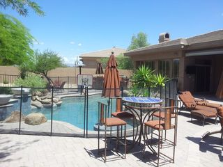 Scottsdale house photo - Retractable safety fence perfect for the kids or can be removed for adults.